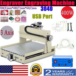 3axis 400w 3040 Router Engraver 3d Cutter Pcb Wood Metal Milling Engraving Drill