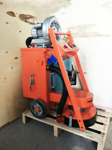 220v Concrete Floor Grinder With Fan industry Tools Heavy Duty Us Stock