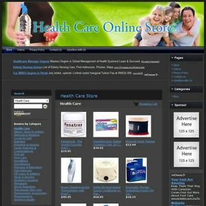 Health Care Store Turnkey Affiliate Website Dropship Free Domain