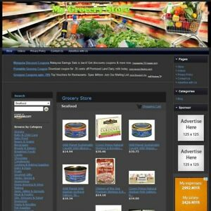 Grocery Store Complete Ready Made Affiliate Website Amazon google dropship
