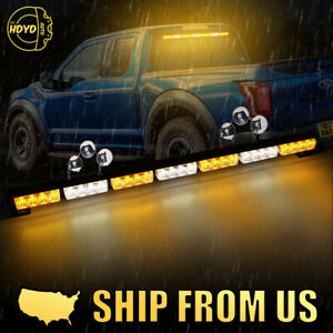 31 28 Led Amber White Traffic Advisor Emergency Hazard Warning Strobe Light Bar
