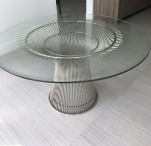 Warren Platner For Knoll Set Of Six Dinning Chairs And A Table
