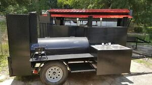 Sink Bbq Smoker Grill Trailer Catering Business Mobile Kitchen Food Cart Truck