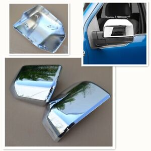 For 15 19 Ford F150 Truck Chrome Mirror Cover Skull Cap Oe Replacement Pair Set