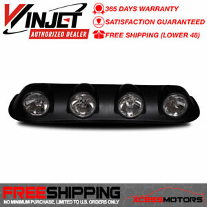 Fit Winjet Universal Round Front Roof Fog Light Lamp Abs Plastic Black Housing