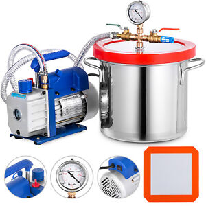 3 Gallon Vacuum Chamber And 4 Cfm Single Stage Pump Degassing Silicone Set