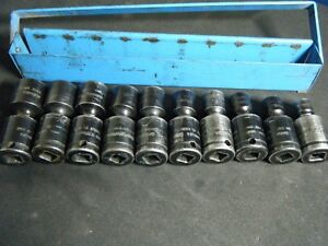 Cornwell Usa Tsmup2210rs 3 8dr 10 19mm Impact Universal Socket Set W Rail