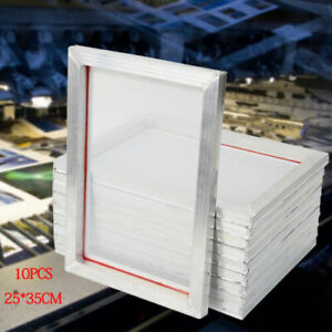 10 Pack Aluminum Screen Printing Screens 25 35 Cm Frame 110 White Mesh