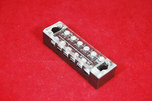 5pcs 6 Position 15a Barrier Dual Row Terminal Block strip W cover Screw Hole
