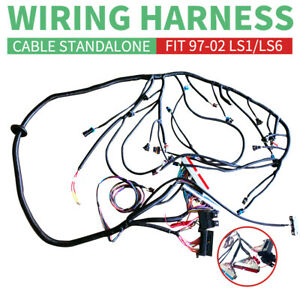 1997 2002 Dbc Ls1 Standalone Wiring Harness T56 Or Non electric Tran 4 8 5 3 6 0