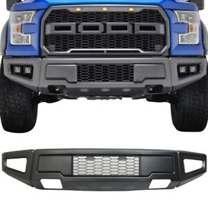 For 15 17 Ford F150 Raptor Style Conversion Painted Grey Steel Front Bumper New