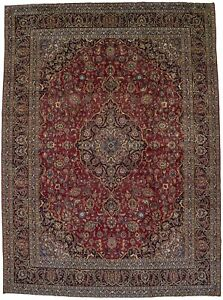 Vintage Traditional Extra Large 10x13 Wool Oriental Area Rug Home Decor Carpet