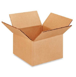 200 6x6x4 Cardboard Paper Boxes Mailing Packing Shipping Box Corrugated Carton