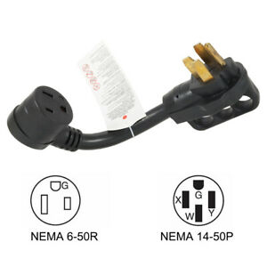 P1450650 Welder Adapter Generator rv 14 50 Plug To Nema 6 50r 50a 250v Connector