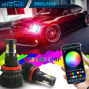 For Dodge Charger 06 19 Headlight High Beam App Smart Control Rgb Multi Color