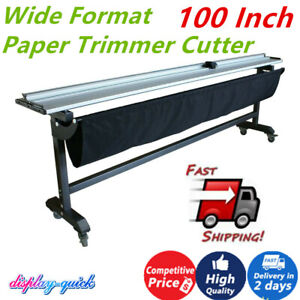 100 Inch Wide Format Paper Trimmer Cutter Cutting Machine With Support Stand New