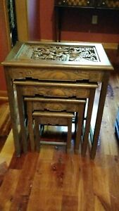 Vintage Asian Nested Tables Early 1970 S