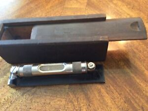 Nice Vintage L s Starrett Co 6 Machinists Level In Wooden Box