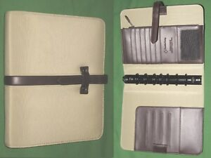 Classic 1 0 Tan Nylon Brown S Leather Franklin Covey Planner Binder 4250