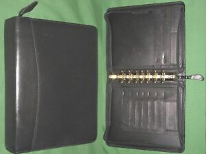 Classic 1 5 Black Full Grain Leather Franklin Covey Quest Planner Binder 4088