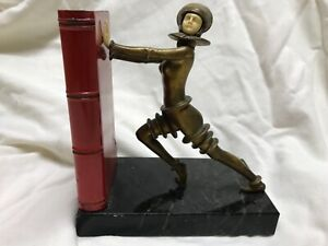 Metropolis Bookend Antique Science Fiction Made In Germany Rare Art Deco Film