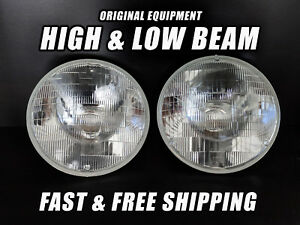 Oe Front Halogen Headlight Bulb For Jeep Cj 1959 1986 Low High Beam Set Of 2