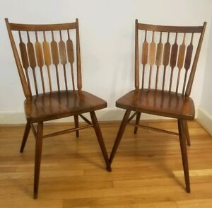 Pair Drexel Declaration Peacock Dining Chairs By Kipp Stewart Stuart Mcdougal