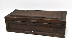 Vintage Wood Carpenters Wood Tool Box Trunk Chest Home Decor