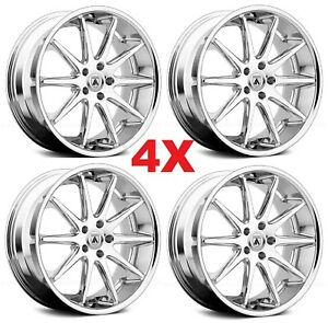 22 Staggered Camaro Wheels Rims Chrome 5x120 Ss Rs Ls Lt Zl1 Le Asanti