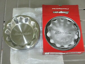Rare Nos Snap On 6 Round Magnetic Bowl Flank Drive Stainless Parts Tray 2012