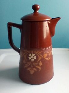 Red Ware Pottery Antique Coffee Or Tea Pot 7 1 2 By 4 3 4 English 1820 1855
