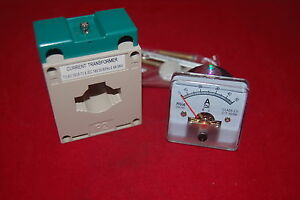 1pc Ac 0 50a Analog Ammeter Panel Amp Current Meter 50 50mm With Transformer