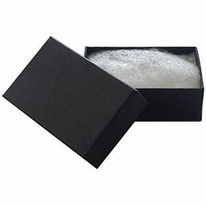 21 Cotton Filled Paper Jewelry Boxes Matte Black 100 Count Home