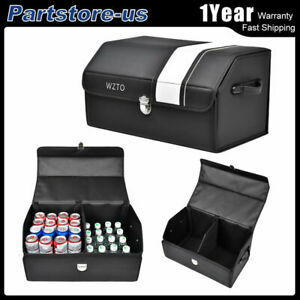 Luxury Trunk Organizer Collapsible Car Truck Auto Travel Party Storage Bag Box L