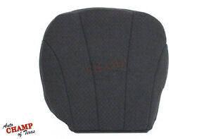 2002 Gmc Sierra 2500 Hd Work Truck driver Side Bottom Cloth Seat Cover Dark Gray