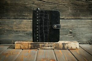 Black Leather Journals Vintage Wooden Noteboo Junior Legal Pad 5 X 8