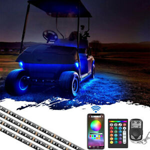 Led Golf Cart Lighting Under Glow Neon Lights Kit For Caddy Club Car Ezgo 144led