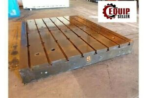 T Slotted Floor Plates 10ft X 8ft X 12in Horizontal Cnc Boring Milling Machine
