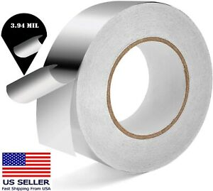 Industrial Grade Aluminum Foil Tape 3 94 Mil 2 Inch X 165 Ft Insulation Home