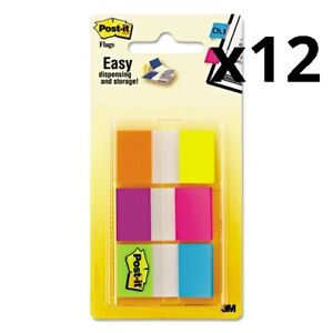 Page Flags In Portable Dispenser Assorted Brights 60 Flags pack Pack Of 12