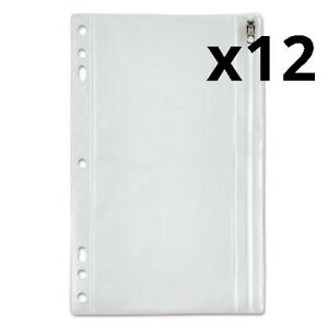Zippered Ring Binder Pocket 9 1 2 X 6 Clear Pack Of 12
