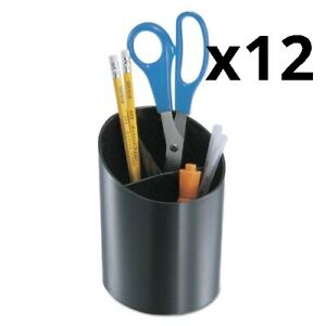 Recycled Big Pencil Cup Plastic 4 1 4 Dia X 5 3 4 Black Pack Of 12