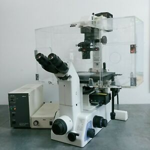 Nikon Microscope Eclipse Te300 With Fluorescence Phase Contrast And Incubation