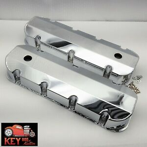 Big Block Chevy Chrome Fabricated Tall Valve Covers Bbc Sheet Metal 454 396 427