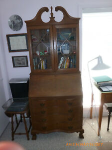 Secretary Desk Claw And Ball Feet Mahogany Chippendale Maddox Style