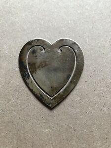Vintage Tiffany Co Heart Shape Sterling Silver Bookmark