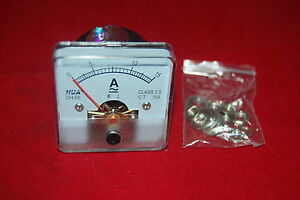 1pc Ac 0 15a Analog Ammeter Panel Amp Current Meter 50 50mm Directly Connect