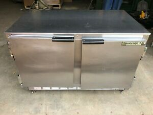 Beverage Air 2 Door Ucr48a Undercounter Drink Food Cooler Refrigerator W casters