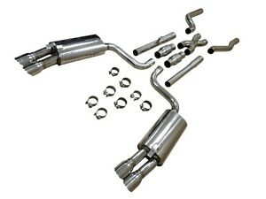 Obx Stainless Quad Tip Catback Exhaust For 86 91 Chevrolet Corvette 5 7l V8 C4
