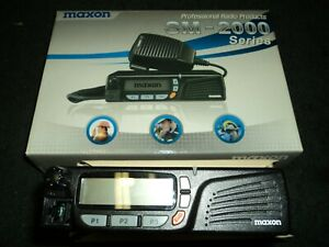 Maxon Sm 2000 Series Mobile 2 Way Radio 440 470 Mhz 208 Ch 25 Watt Brand New